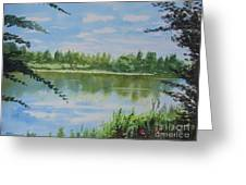 Summer By The River Greeting Card