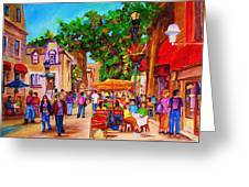 Summer Cafes Greeting Card