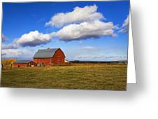 Summer Clouds Over Farm Country I Greeting Card