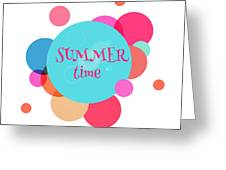 Summer Colorful Background With Text - Greeting Card