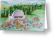 Summer Concert In The Park Greeting Card