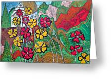Summer Cottage Greeting Card by Matthew  James