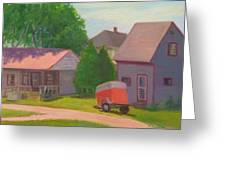 Summer Cottages Maine Greeting Card