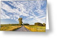 Summer Country Road Greeting Card