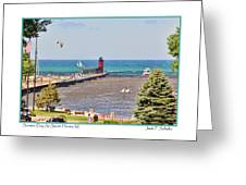 Summer Day At South Haven Mi Greeting Card