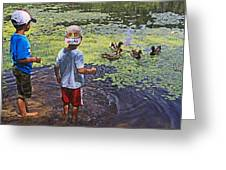 Summer Day At The Pond Greeting Card