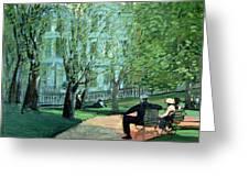 Summer Day Boston Public Garden Greeting Card