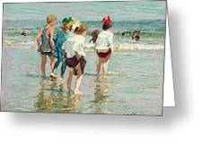 Summer Day Brighton Beach Greeting Card