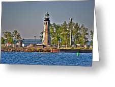 Summer Day View Of The Lighthouse  Greeting Card