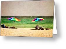Summer Days At The Beach Greeting Card