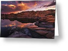 Summer Dells Sunset Greeting Card