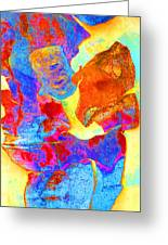 Summer Eucalypt Abstract 28  Greeting Card