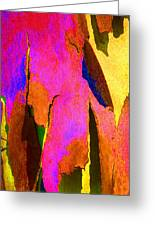 Summer Eucalypt Abstract 8 Greeting Card