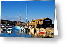 Summer Evening At The Harbour Greeting Card