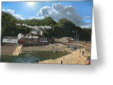 Summer Evening Clovelly North Devon Greeting Card