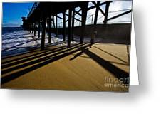 Summer Evening In Seal Beach Greeting Card