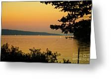 Summer Evening On Cayuga Lake Greeting Card