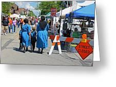 Summer Festival In Berne Indiana II Greeting Card