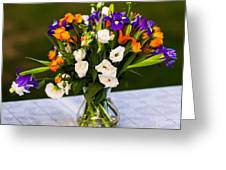 Summer Flowers Featured 3 Greeting Card