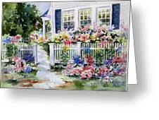Summer Garden Greeting Card by Bobbi Price