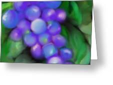 Summer Grape Greeting Card