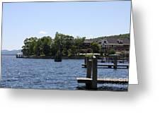 Summer Impression Lake Winnipesaukee Greeting Card