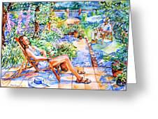 Summer In An Irish Garden  Greeting Card