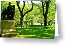 Summer In Central Park Manhattan Greeting Card