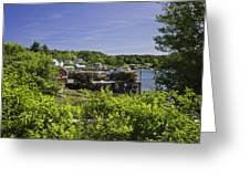 Summer In South Bristol On The Coast Of Maine Greeting Card