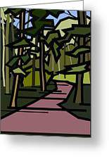 Summer In The Woods Greeting Card by Kenneth North