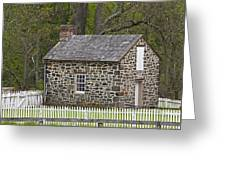 Summer Kitchen In Spring - Colonial Stone Greeting Card