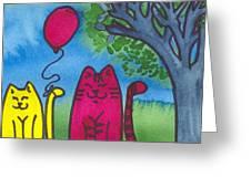 Summer Kittens Greeting Card