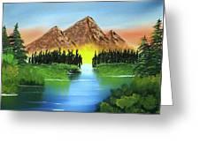 Summer Lake Sunrise Greeting Card