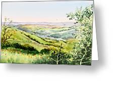 Summer Landscape Inspiration Point Orinda California Greeting Card