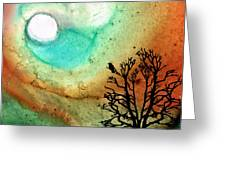 Summer Moon - Landscape Art By Sharon Cummings Greeting Card by Sharon Cummings