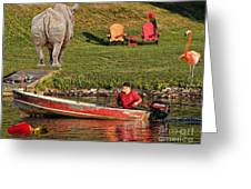 Summer Morning On Muskoka River Greeting Card