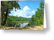 Summer Mountain Pond 2 Greeting Card