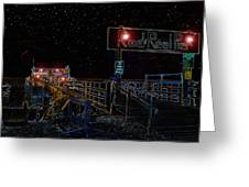 Summer Night At The Pier Greeting Card