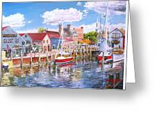 Summer On Bowens, Newport, Rhode Island Greeting Card