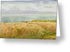 Summer On The Cliffs Greeting Card