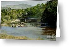 Summer On The River In Vermont Greeting Card