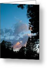 Summer Paradise Sunset Greeting Card