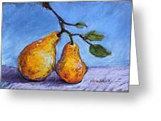 Summer Pears Greeting Card by Kelley Smith