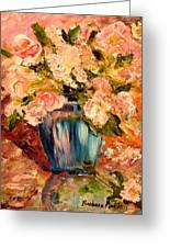 Summer Petals Greeting Card by Barbara Pirkle