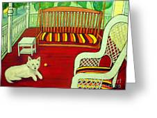 Summer Porch Greeting Card by Doreen Kirk