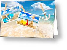 Summer Postcards Greeting Card