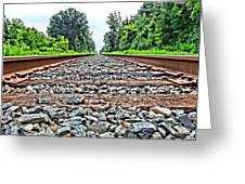 Summer Railroad Tracks Greeting Card