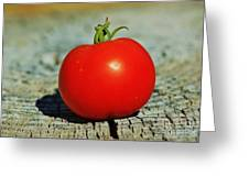 Summer Red Tomato Greeting Card