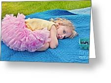 Summer Rest With Blueberries Greeting Card