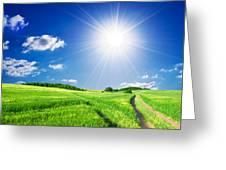 Summer Rural Landcape Greeting Card